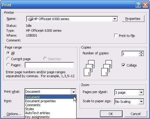 how to clear word document of metadata